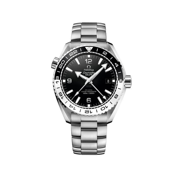 Omega Seamaster Planet Ocean Master Chronometer Gmt 43.5mm Men's Automatic Stainless Steel Watch - Black Dial, , default