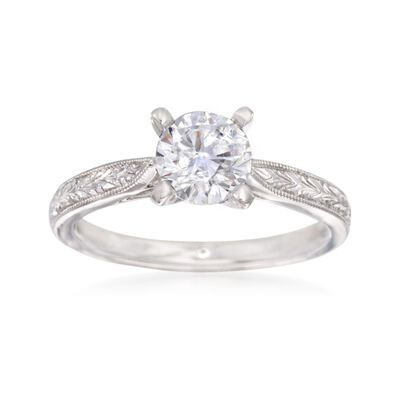 Gabriel Designs 14kt White Gold Engagement Ring Setting, , default