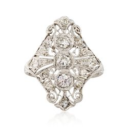 C. 2000 Vintage 1.05 ct. t.w. Diamond Dinner Ring in Platinum, , default