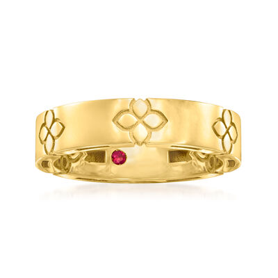 """Roberto Coin """"Love in Verona"""" 18kt Yellow Gold Ring"""