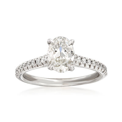 Henri Daussi 1.47 ct. t.w. Diamond Engagement Ring in 14kt White Gold