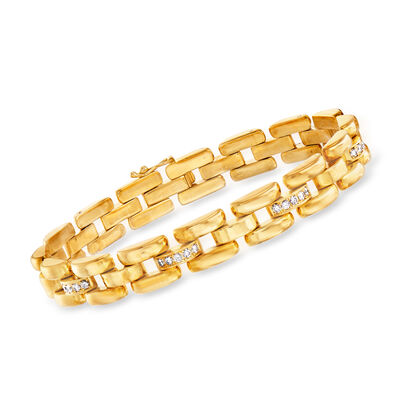 C. 1990 Vintage Chopard 1.00 ct. t.w. Diamond Link Bracelet in 18kt Yellow Gold