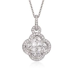Simon G. 1.11 ct. t.w. Diamond Pendant Necklace in 18kt White Gold, , default