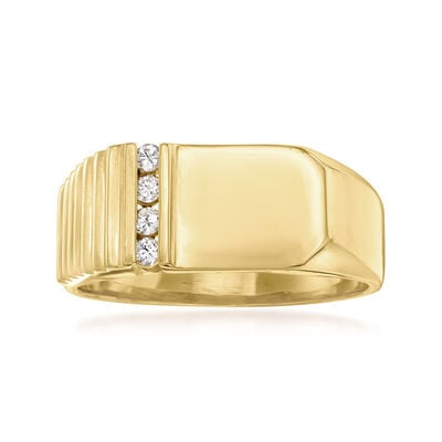 C. 1980 Vintage .12 ct. t.w. Diamond Ring in 14kt Yellow Gold