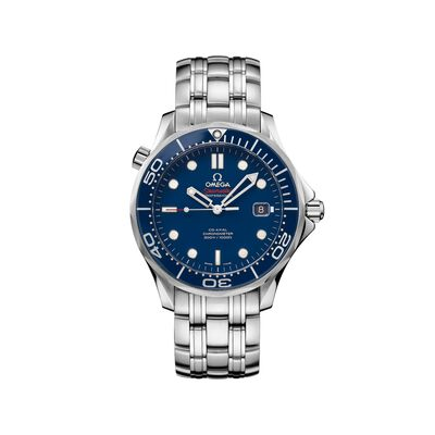Omega Seamaster Diver Men's 41mm Stainless Steel Watch with Blue Dial, , default