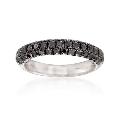 Henri Dausi 1.00 ct. t.w. Black Diamond Band in 14kt White Gold