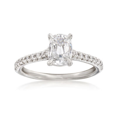Henri Daussi 1.21 ct. t.w. Certified Diamond Engagement Ring in 18kt White Gold