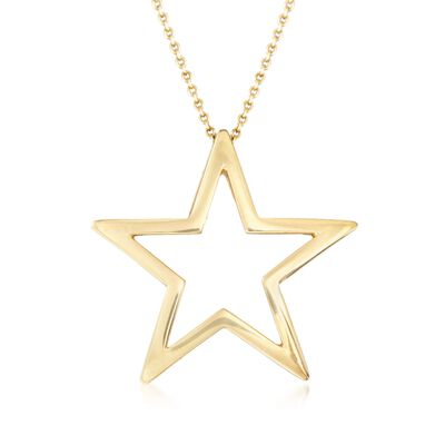 Roberto Coin 18kt Yellow Gold Star Pendant Necklace, , default