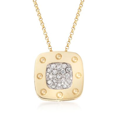 "Roberto Coin ""Pois Moi"" .25 ct. t.w. Diamond Pendant Necklace in 18kt Two-Tone Gold, , default"