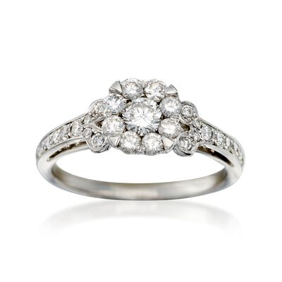 C. 2000 Vintage .80 ct. t.w. Diamond Ring in 18kt White Gold, , default