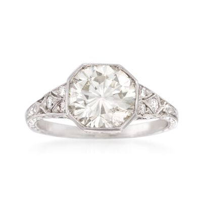 C. 2000 Vintage 2.69 ct. t.w. Diamond Ring in Platinum, , default