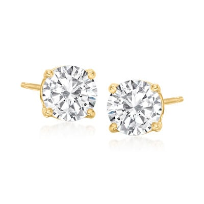 C. 2000 Vintage 1.50 ct. t.w. Diamond Stud Earrings in 14kt Yellow Gold