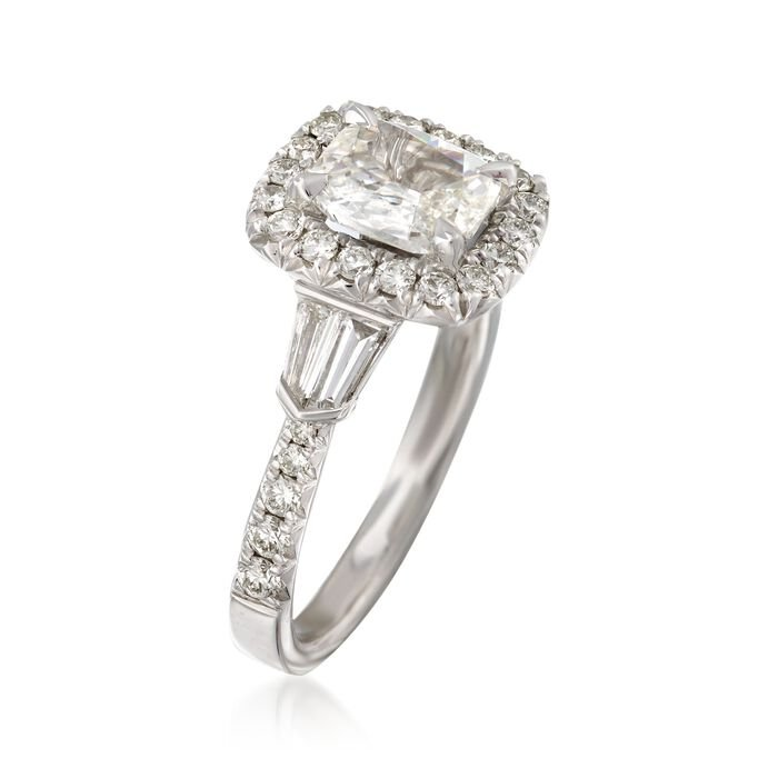 Henri Daussi 1.69 ct. t.w. Certified Diamond Ring in 18kt White Gold