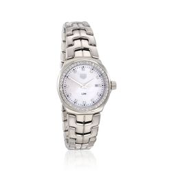 TAG Heuer Link Women's 32mm .92 ct. t.w. Diamond Watch in Stainless Steel With Mother-Of-Pearl Dial, , default