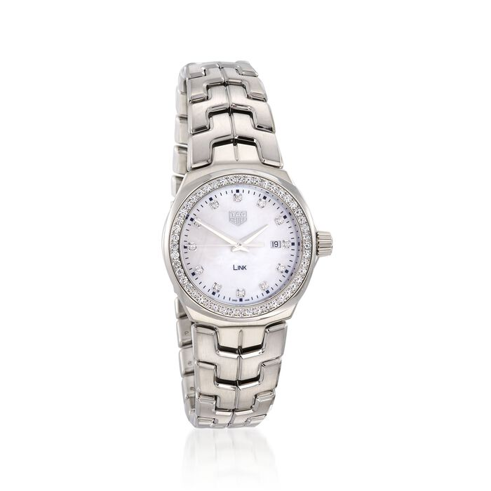 TAG Heuer Link 32mm Women's .92 Carat Total Weight Diamond Watch in Stainless Steel, , default