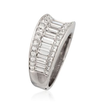 Simon G. 1.92 Carat Total Weight Diamond Band in 18-Karat White Gold. Size 7, , default