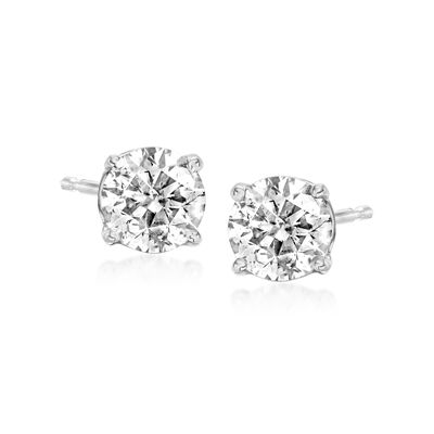 C. 1990 Vintage 1.00 ct. t.w. Diamond Stud Earrings in 14kt White Gold
