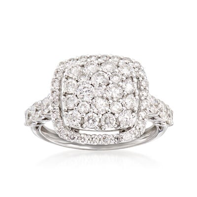 C. 1990 Vintage 2.00 ct. t.w. Diamond Cluster Ring in 18kt White Gold, , default