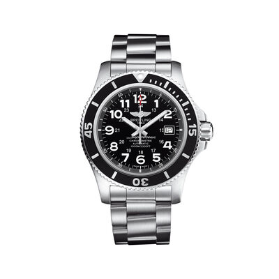 Breitling Superocean II Men's 44mm Stainless Steel Watch - Black Dial, , default