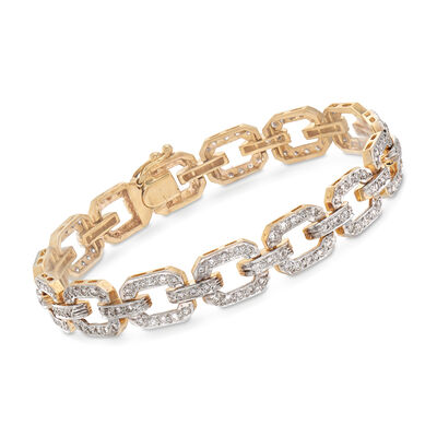 C. 1980 Vintage 2.50 ct. t.w. Diamond Link Bracelet in 14kt Yellow Gold, , default