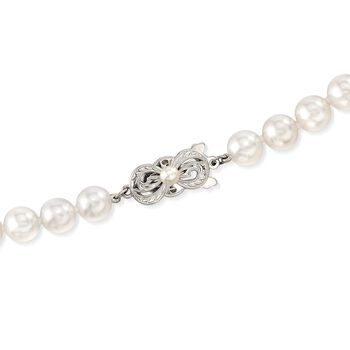 """Mikimoto 7-7.5mm 'A' Akoya Pearl Necklace with 18-Karat White Gold. 40"""", , default"""