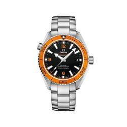 Omega Seamaster Planet Ocean Men's 42mm Stainless Steel Watch With Orange Bezel and Black Dial, , default