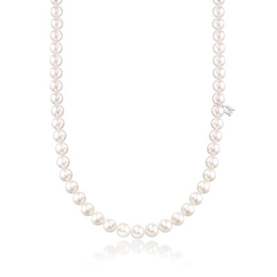 Mikimoto 6.5-7mm 'A' Akoya Pearl Necklace With 18kt White Gold, , default