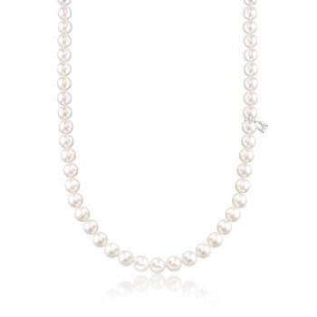 """Mikimoto 6.5-7mm 'A' Akoya Pearl Necklace With 18-Karat White Gold. 18"""", , default"""