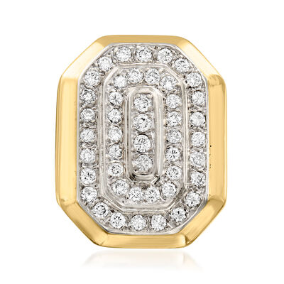 C. 1980 Vintage 1.05 T. t.w. Diamond Ring in 14kt Yellow Gold