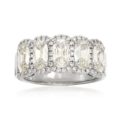 Henri Daussi 2.20 ct. t.w. Five-Stone Diamond Ring in 18kt White Gold