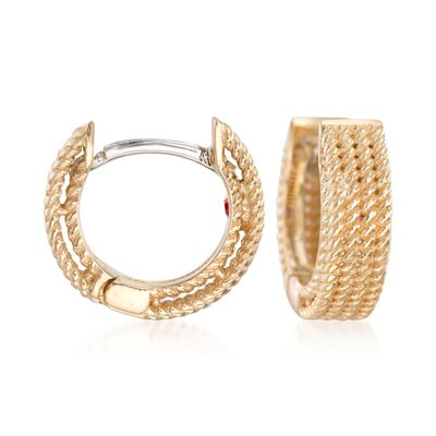 "Roberto Coin ""Symphony"" 18kt Yellow Gold Huggie Hoop Earrings, , default"