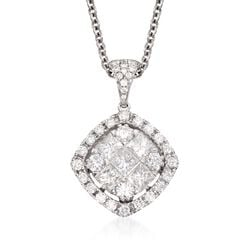 Gregg Ruth 1.44 ct. t.w. Diamond Pendant Necklace in 18kt White Gold, , default