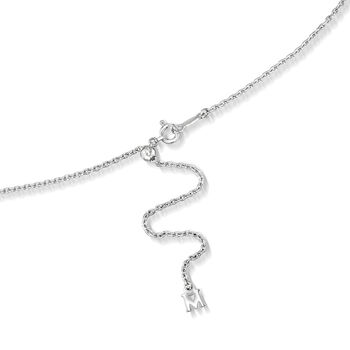 """Mikimoto """"Japan"""" 7.5mm A+ Akoya Pearl Adjustable Lariat Necklace in 18kt White Gold. 20"""""""