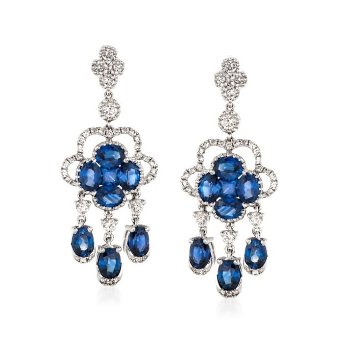 Gregg Ruth 3.20 Carat Total Weight Sapphrie and .75 Carat Total Weight Diamond Drops, , default