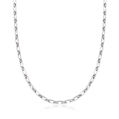 C. 1990 Vintage Cartier 18kt White Gold Chain Necklace