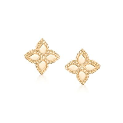 "Roberto Coin ""Princess"" 18kt Yellow Gold Flower Stud Earrings, , default"