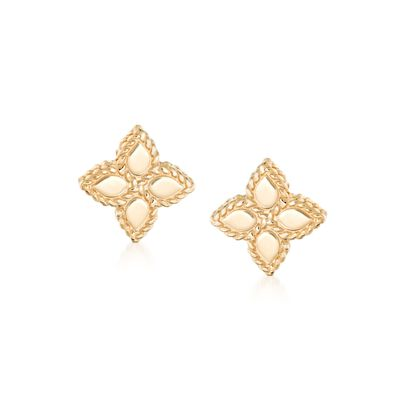 "Roberto Coin ""Princess"" 18kt Yellow Gold Flower Stud Earrings"