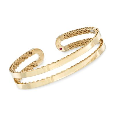 "Roberto Coin ""Symphony"" 18kt Yellow Gold Double Cuff Bracelet, , default"