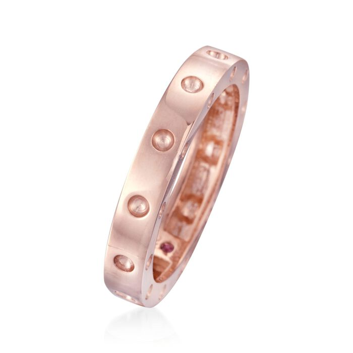 """Roberto Coin """"Pois-Moi"""" 18kt Rose Gold Dotted Ring"""