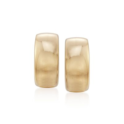 Roberto Coin 18kt Yellow Gold Small Puffed Half-Hoop Earrings, , default