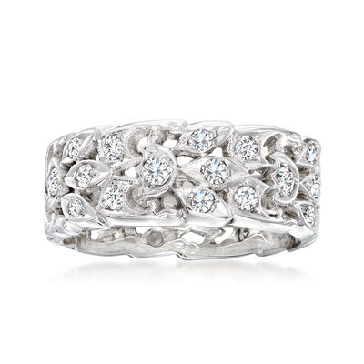 C. 1960 Vintage .85 ct. t.w. Diamond Eternity Band in 14kt White Gold