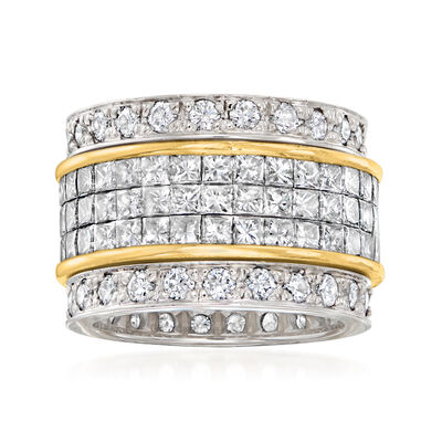 C. 2000 Vintage 7.30 ct. t.w. Diamond Eternity Band in 18kt Two-Tone Gold