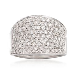 C. 1990 Vintage 2.00 ct. t.w. Diamond Ring in 18kt White Gold, , default