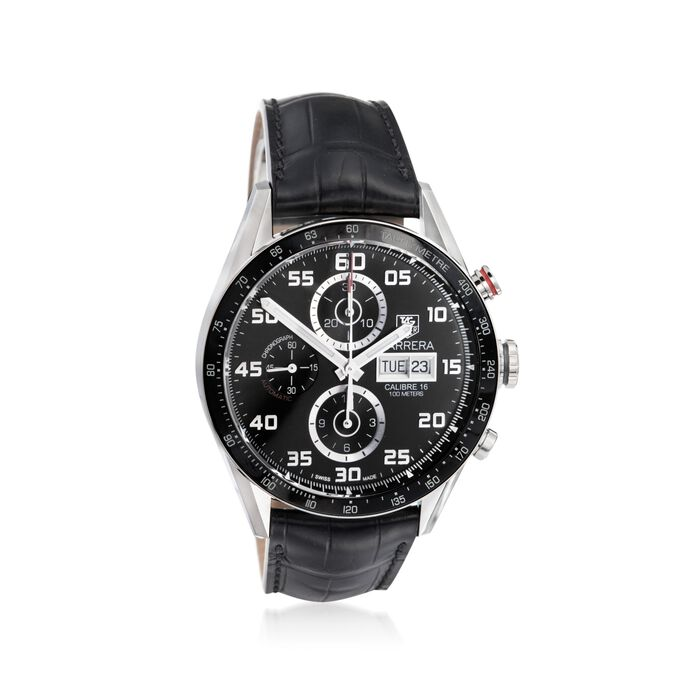 TAG Heuer Carrera 43mm Men's Chronograph Day-Date Stainless Steel Watch, , default