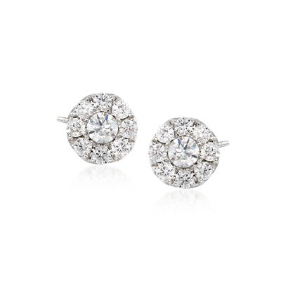 Gregg Ruth .45 ct. t.w. Diamond Stud Earrings in 18kt White Gold, , default