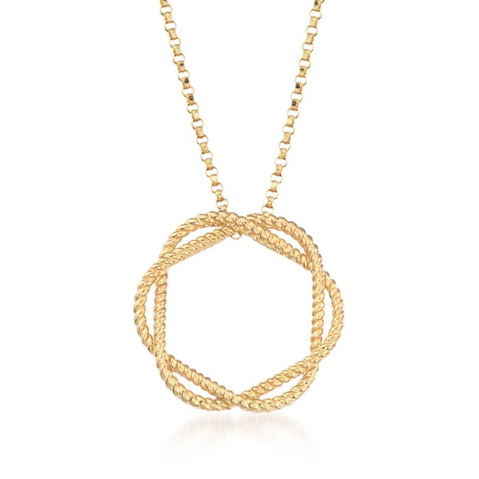 """Roberto Coin """"Barocco"""" Circle Pendant Necklace in 18kt Yellow Gold"""