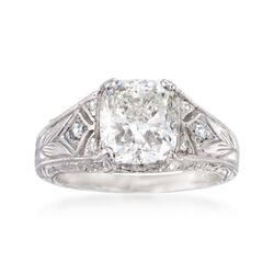 C. 2000 Vintage 3.17 ct. t.w. Diamond Ring in Platinum, , default