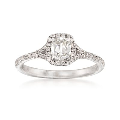 Henri Daussi 1.08 ct. t.w. Diamond Engagement Ring in 14kt White Gold, , default