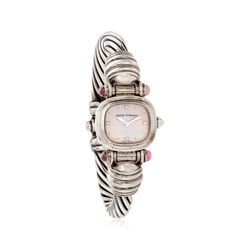 C. 2000 Vintage David Yurman Woman's 21mm Tourmaline 21mm Quartz Watch in Sterling Silver, , default