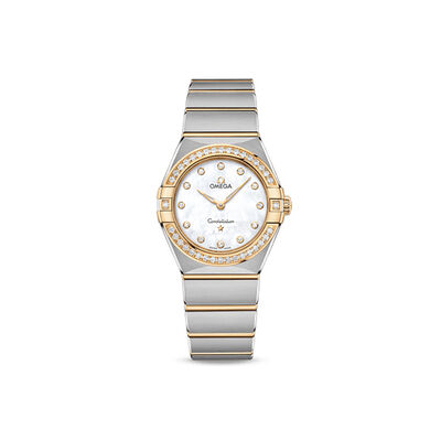 Omega Constellation Women's 28mm Stainless Steel and 18kt Yellow Gold Watch